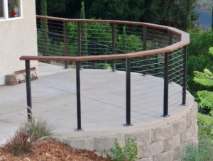 stainless steel cable railings, Radius cable railing, cable railing contractors Southern California
