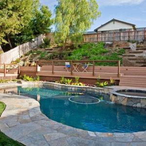 Custom Stone Pool Deck