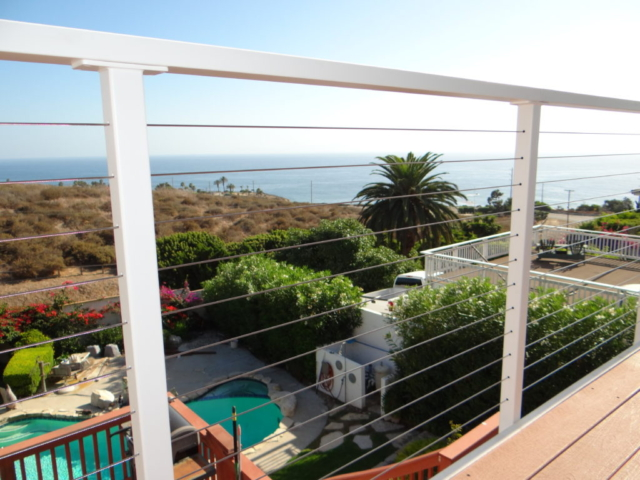 cable railing contractors San Diego, california cable railings