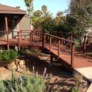 Raised Hardwood Entry Bridge
