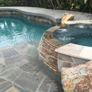 Curved Trex Pool Deck