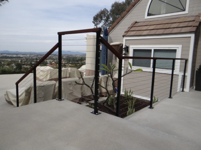 north San Diego cable railing installers, California cable railings