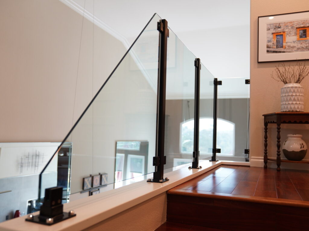 glass railing installation San Diego, glass stair railings, glass railing contractors San Diego